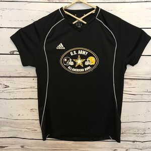 Adidas Climacool athletic shirt army American bowl